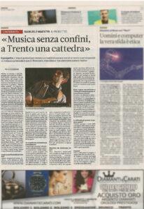 Musica Senza Confini - Manuele Maestri - A Trento una cattedra